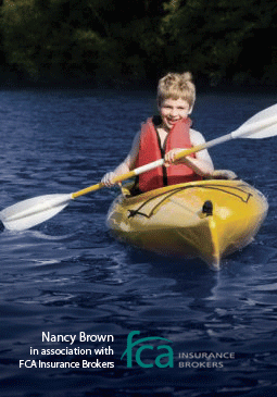 boy in a canoe image
